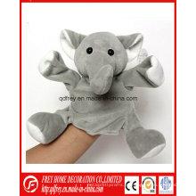 Venta caliente Peluche elefante mano títere elefante de juguete