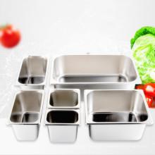 Edelstahl-Serviertablett für Hotel Full Sizes Amerikanischer Tiefkühlbehälter Gastronorm GN Pan