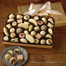 Caixa de chocolate diy com papel marrom alimentos
