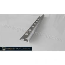 10mm Silver Brushed Aluminum Radius Floor Trim