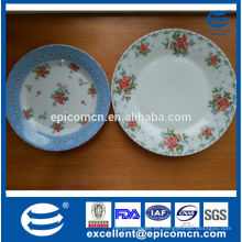 Pequeñas flores decortated placa de postre conjunto, placas de fruta de porcelana fina