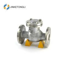 """JKTLPC001 Válvula de retención de 2 """"con contraflujo y rebordeado de acero inoxidable"""