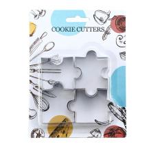 ensemble de coupe-biscuits de biscuit de puzzle d'acier inoxydable