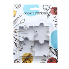 stainless steel  puzzle biscuit cookie cutter set