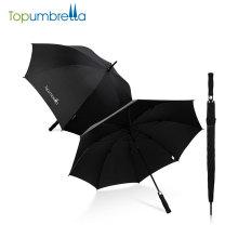 paraguas largo promocional del golf del eje del producto chino de la calidad, paraguas del golf a prueba de viento