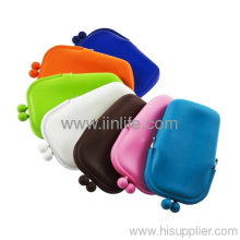 Silicone Pouch Wallet Purse Cover Card Holder Phone Mobile Key Coin Bag Gift