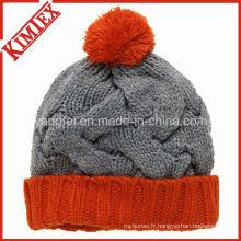 Chapeau en jacquard croquante d'hiver de haute qualité