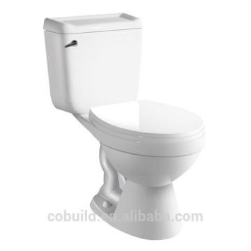 Sanitario Side Single Flush Inodoro de dos piezas p-trap inodoro