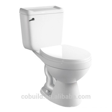 Sanitary ware Side Single Flush Two piece closet p-trap toilet seat
