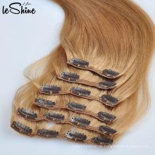 Großhandelsdoppeltes gezeichnetes 80g-220g Jungfrau Remy Clip Hair Extension