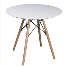 Best quality MDF top and beech wood legs Round dining bar Table