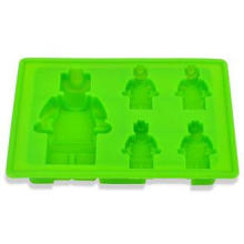 Silicone Robot Ice Cube Trays Green Non-stick for Birthday