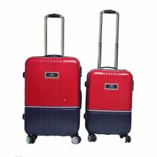 Contrast Color ABS Luggage with Spinner