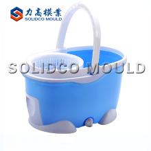 Spin Mop Bucket con ruedas de moldeo por inyección