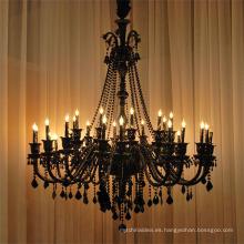 Lámpara de araña de cristal negro para iluminación de cocina85543