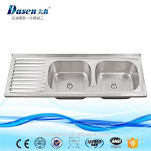 Fregadero de lavabo de montaje superior de lavabo industrial de acero inoxidable de 500 mm de ancho