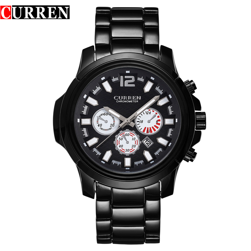 Stainless Steel Waterproof Sport Quartz Watches