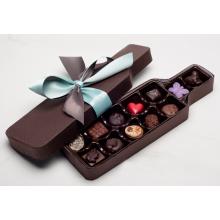 Cajas de embalaje de chocolate de marca en forma de botella