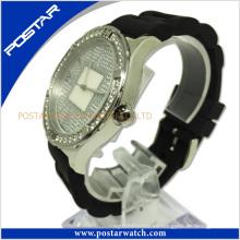 Reloj suizo de acero inoxidable unisex con esfera de fregona