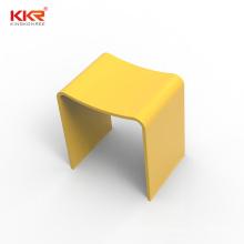 European Design Colorful Artificial Stone Acrylic Solid Surface Bathroom Stools