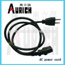 ymvk enchufe grapa de cable de poder para Turquía tipo enchufe insert