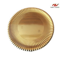 12 Inch Golden Round Shape Paper Tray