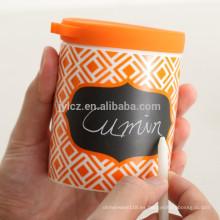 Carrito de condimentos de 400 ml con tapa de silicona