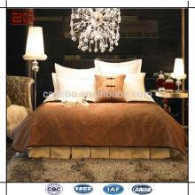 Nuevo diseño de lujo blanco llano de la cama del hotel al por mayor fijó
