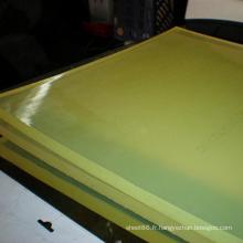 Feuille en plastique jaune-clair d'unité centrale de polyuréthane avec la qualité