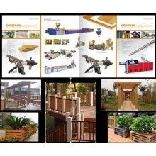 PP / PE Holz Kunststoff Outdoor-Bodenbelag Profil Produktionslinie