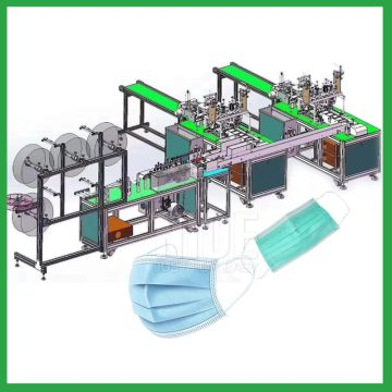 Automatic disposable face mask production line machine