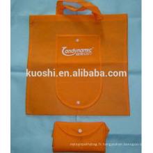 Sacs à provisions pliables en polyester avec logo