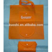 Sacos de compras de poliéster dobráveis com logotipo