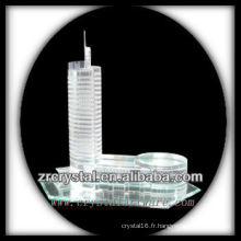 Magnifique modèle de bâtiment en cristal H031