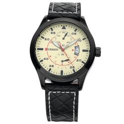 Minimalist Genuine Leather Sport Watch For Men