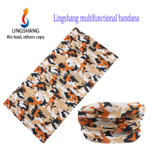 LINGSHANG 2015 la aduana headwear de la nueva manera imprimió el pañuelo inconsútil de la bufanda de múltiples funciones mágica del bandana
