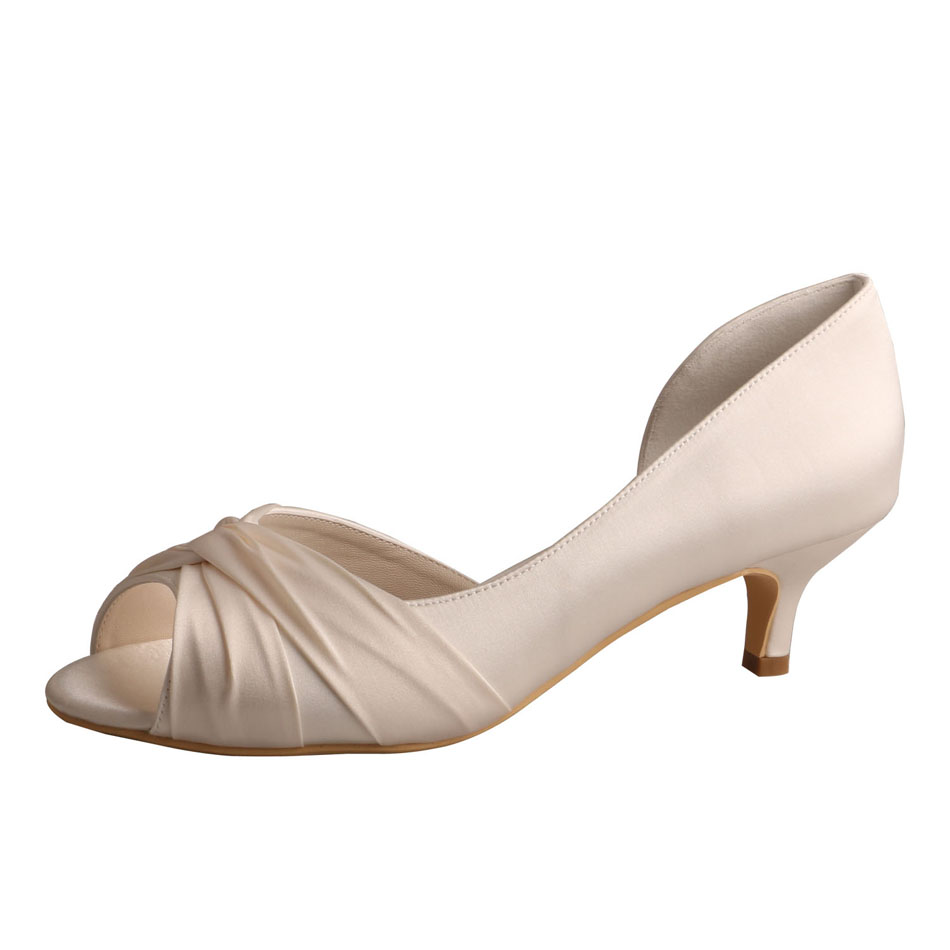 Bridesmaid Shoes Peep Toe