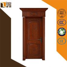 Lujo talla de diseño moderna puerta de madera sólida
