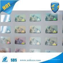 Autocollant de sécurité anti-sabotage hologramme autocollant logo personnalisé hologramme 3d pour machine à imprimer
