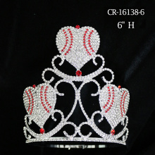 Wholesale Rhinestone Crystal Heart Crown Valentine's Day Gift