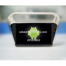 Usine directement! Plein tactile sans dvd + 1024 * 600 android lecteur dvd de voiture pour Peugeot 301 + OEM + quad core!