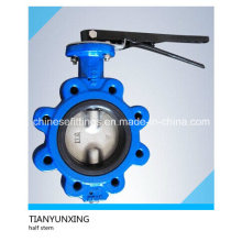 Casting CF8m Disc Two Shaft/Stem Lugged Butterfly Valve