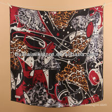 turkish silk scarf women red leopard designer brand turkish silk scarf
