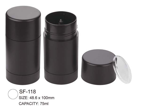 Empty Round Plastic Foundation Stick Case Container SF-118