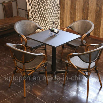Outdoor and Indoor Table and Chairs with PE Rattan Chair and Square Table (SP-CT837)