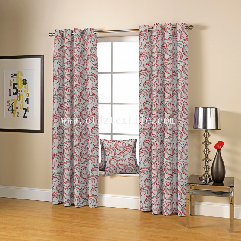RED DRAPES FABRIC