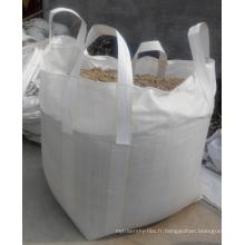 Sacs grands de sacos de pp sacos / pp grands sacs / 1000kg avec le fond complètement ouvert et plat