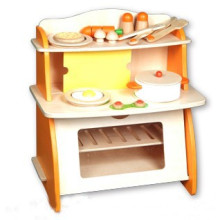 Kids Wooden Role Play Toys Kitchen Pretend Set Kitchen Hearth Toys
