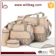 Bolsas de pañales de moda de gran capacidad a prueba de agua de 4 bolsas