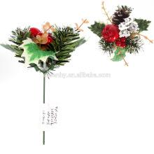 elegantes decoraciones decorativas de Navidad glitter floral acebo selecciones